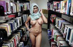 Diva goala face sex in biblioteca cu un barbat pervers